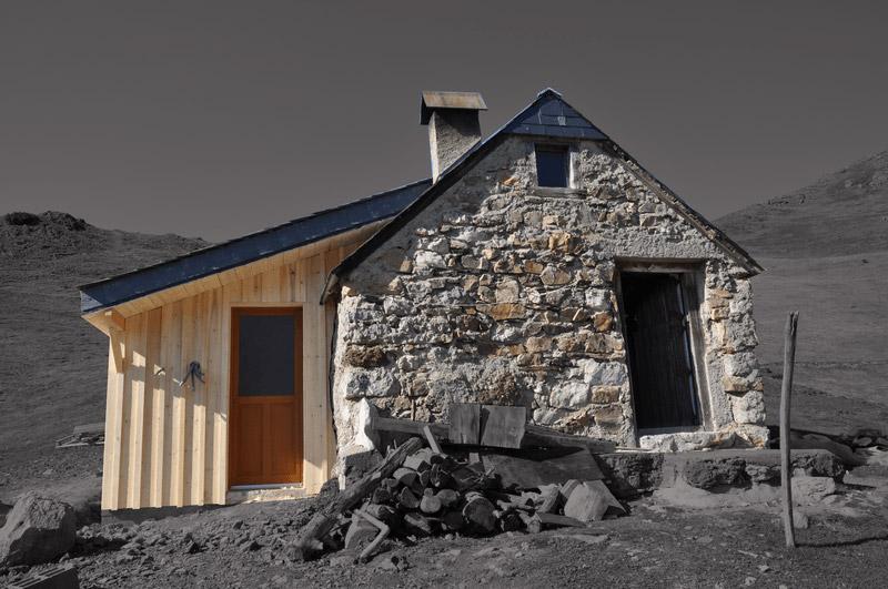 Extension cabane de berger à Jézeau