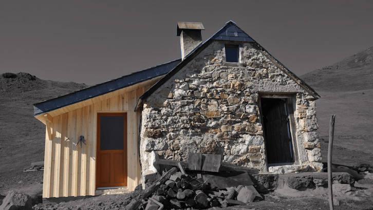 ossature bois sur agrandissement cabane pastorale 2