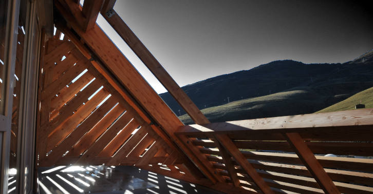 Charpente bois douglas portillon et garde corps